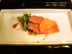 鴨肉のロースト オレンジソース