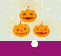 光るかぼちゃ