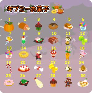 ギブミーお菓子