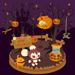 双子の木とかぼちゃ